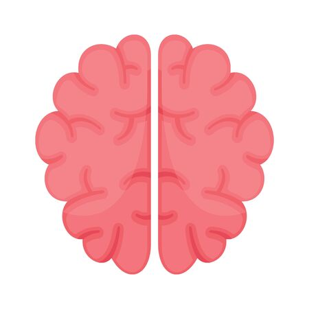 Brain flat icon. Vector Brain in flat style isolated on white background. Element for web, game and advertising