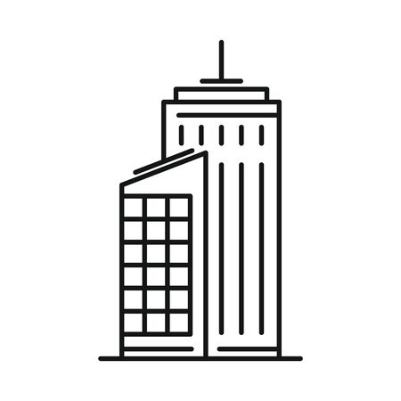 Line vector city building on white background 向量圖像