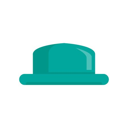 Old Hat flat icon. Vector old hat in flat style isolated on white background. Element for web, game and advertising 向量圖像