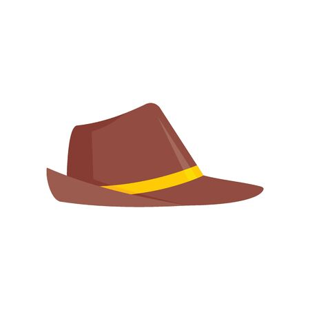 German Hat flat icon. Vector German hat in flat style isolated on white background. Element for web, game and advertising 版權商用圖片 - 140315647