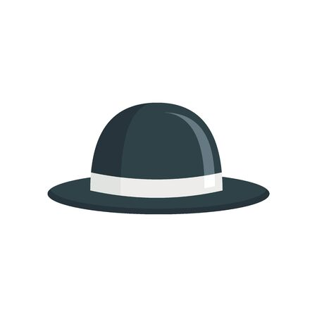 trendy Hat flat icon. Vector trendy hat in flat style isolated on white background. Element for web, game and advertising 版權商用圖片 - 140315940