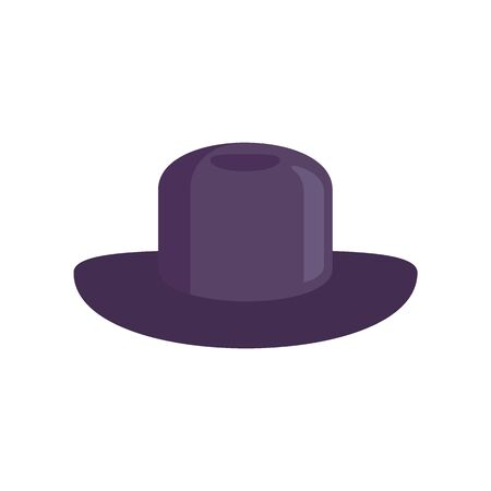 lilac Hat flat icon. Vector lilac hat in flat style isolated on white background. Element for web, game and advertising