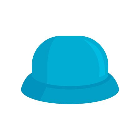 childrens Hat flat icon. Vector childrens hat in flat style isolated on white background. Element for web, game and advertising