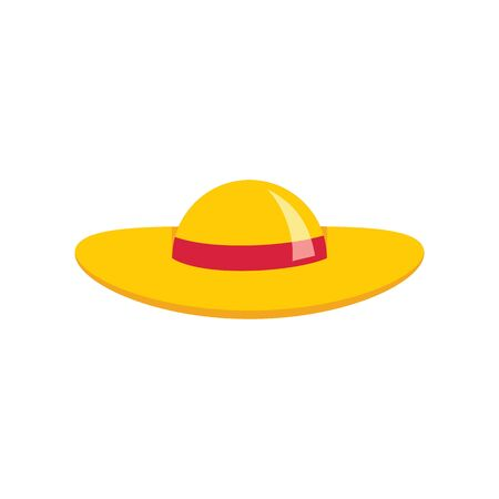swanky Hat flat icon. Vector swanky hat in flat style isolated on white background. Element for web, game and advertising 版權商用圖片 - 140315877