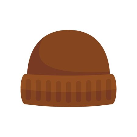 Winter Hat flat icon. Vector Winter Hat in flat style isolated on white background. Element for web, game and advertising