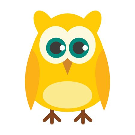 Knowledge owl flat icon. Vector knowledge owl in flat style isolated on white background. Element for web, game and advertising