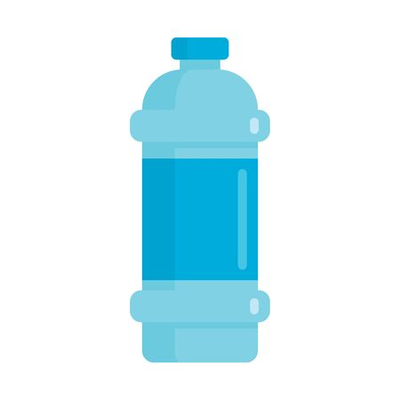 Flat plastic drink bottle of clean water mockup isolated on white background vector illustration. Element for web, game and advertising illustration