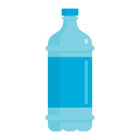 Flat plastic drink blue water bottle mockup isolated on white background vector illustration. Element for web, game and advertising blue water illustration 向量圖像
