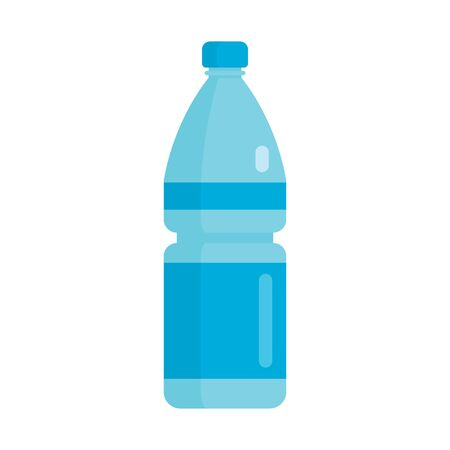 Flat plastic drink mineral water bottle mockup isolated on white background vector illustration. Element for web, game and advertising mineral water bottle illustration 版權商用圖片 - 140645216