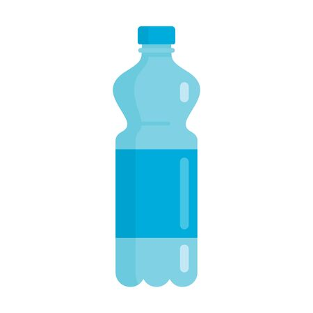 Flat plastic drink clean water bottle mockup isolated on white background vector illustration. Element for web, game and advertising clean water illustration 版權商用圖片 - 140645294