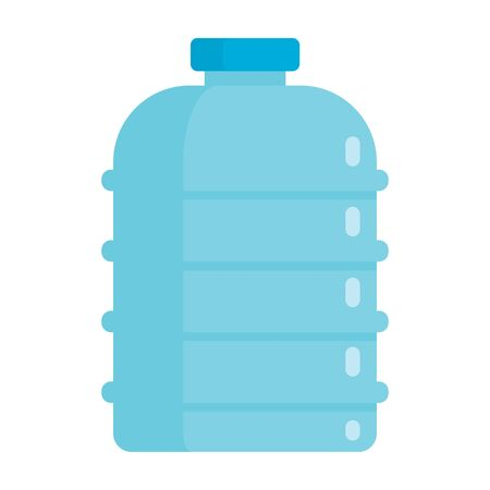 Flat plastic drink healthy water bottle mockup isolated on white background vector illustration. Element for web, game and advertising illustration 向量圖像