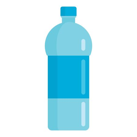Flat plastic drink sport mineral water bottle mockup isolated on white background vector illustration. Element for web, game and advertising sport mineral water bottle illustration