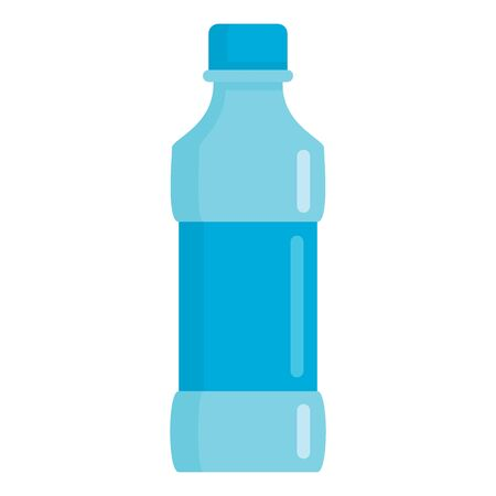 Flat plastic drink spring water bottle mockup isolated on white background vector illustration. Element for web, game and advertising spring water bottle illustration 向量圖像