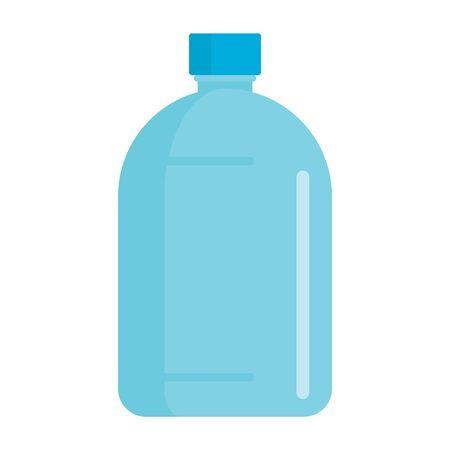 Flat plastic drink crisp water bottle mockup isolated on white background vector illustration. Element for web, game and advertising crisp water bottle illustration