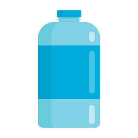 Plastic bottle for water, flat icon