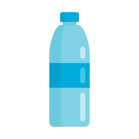 Plastic bottle for water, flat icon 向量圖像