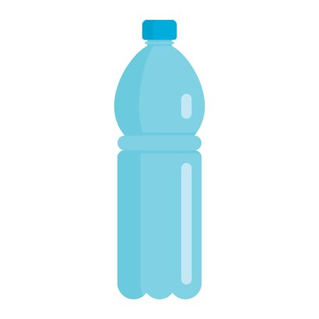 Flat plastic drink sport bottle mockup isolated on white background vector illustration. Element for web, game and advertising sport water illustration