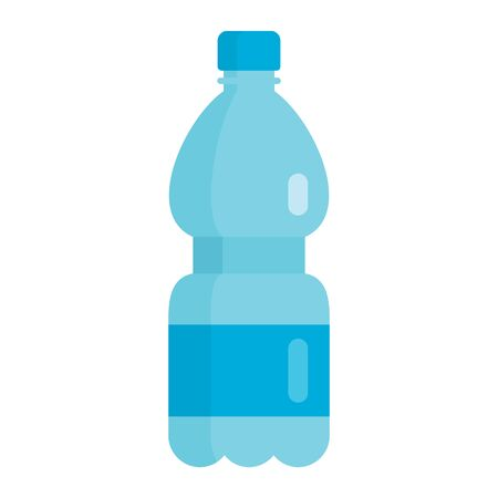 Flat plastic drink clean mineral water bottle mockup isolated on white background vector illustration. Element for web, game and advertising clean mineral water illustration 向量圖像