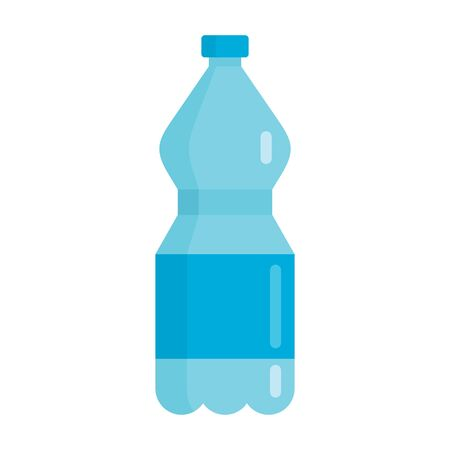 Flat plastic drink cool water bottle mockup isolated on white background vector illustration. Element for web, game and advertising cool water bottle illustration 向量圖像