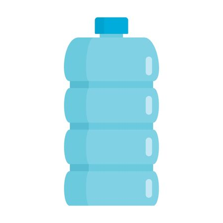 Flat plastic pure drink bottle mockup isolated on white background vector illustration. Element for web, game and advertising pure drink bottle illustration