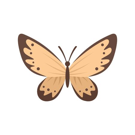 Gentle butterfly flat icon. Vector gentle butterfly in flat style isolated on white background. Element for web, game and advertising 向量圖像