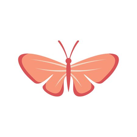 Sweet butterfly flat icon. Vector sweet butterfly in flat style isolated on white background. Element for web, game and advertising Banque d'images - 140981164