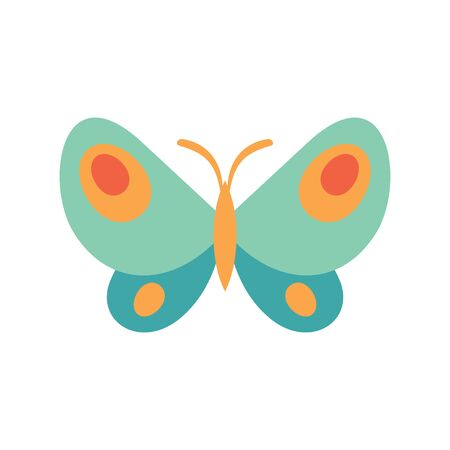 Virid butterfly flat icon. Vector virid butterfly in flat style isolated on white background. Element for web, game and advertising Banque d'images - 140981182