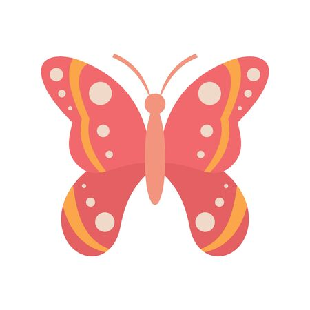 Butterfly for dress flat icon. Vector butterfly for dress in flat style isolated on white background. Element for web, advertising Banque d'images - 140981185