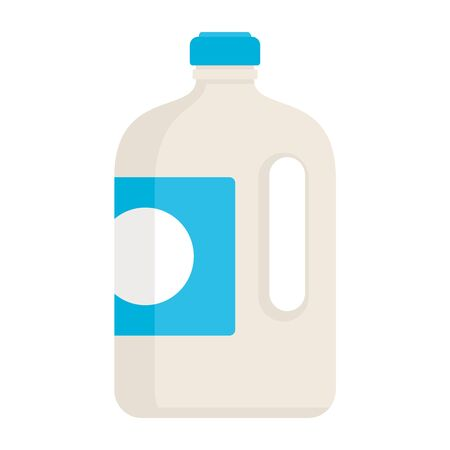 yogurt in a big bottle flat icon. Vector yogurt in a big bottle in flat style isolated on white background. Element for web, game and advertising