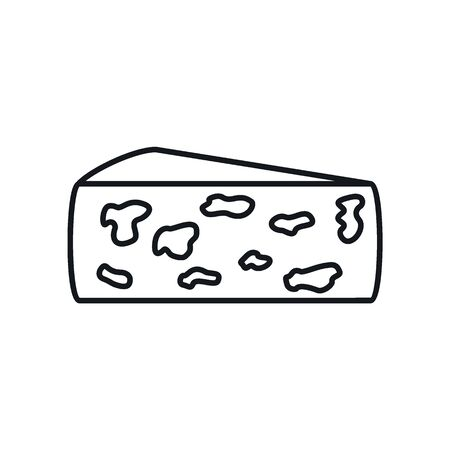 Colby jack cheese line icon. Vector Colby jack cheese in line style isolated on white background. Element for web, game and advertising