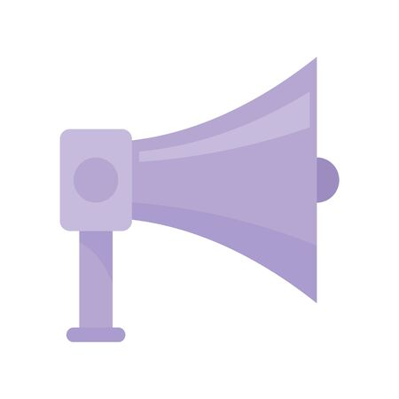 old Megaphone flat icon. Vector old Megaphone in flat style isolated on white background. Element for web, game and advertising