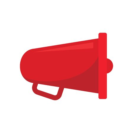 speaker Megaphone flat icon. Vector speaker Megaphone in flat style isolated on white background. Element for web, game and advertising