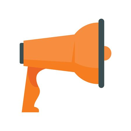 talking Megaphone flat icon. Vector talking Megaphone in flat style isolated on white background. Element for web, game and advertising 向量圖像