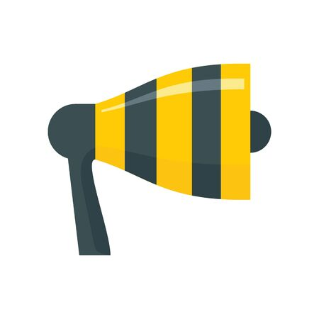 broadcasting Megaphone flat icon. Vector broadcasting Megaphone in flat style isolated on white background. Element for web, game and advertising