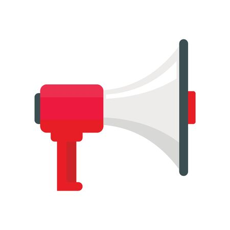 alert Megaphone flat icon. Vector alert Megaphone in flat style isolated on white background. Element for web, game and advertising 向量圖像