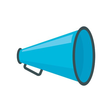 advertising Megaphone flat icon. Vector advertising Megaphone in flat style isolated on white background. Element for web, game and advertising