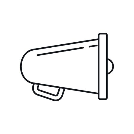 sound Megaphone outline icon. Vector sound Megaphone in outline style isolated on white background. Element for web, game and advertising