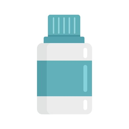 bottle of medicine flat icon. Vector bottle of medicine in flat style isolated on white background. Element for web, game and medicine advertising Ilustração