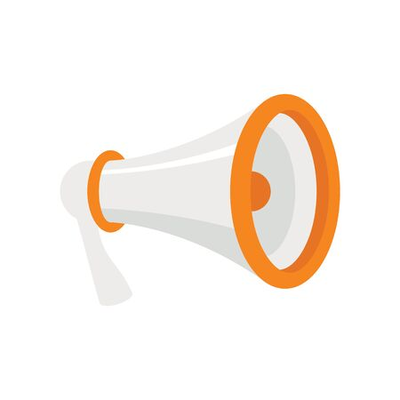 loudspeaker Megaphone flat icon. Vector loudspeaker Megaphone in flat style isolated on white background. Element for web, game and advertising 向量圖像