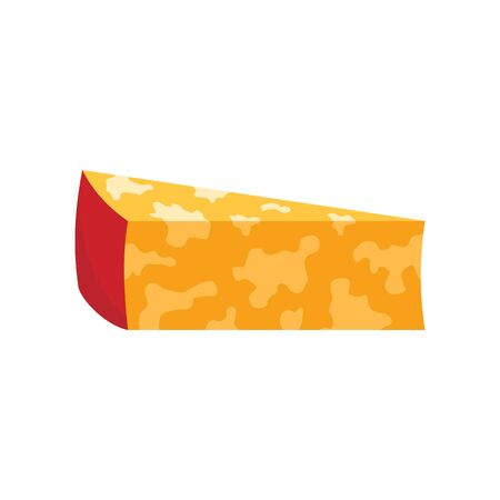 Colby jack cheese flat icon. Vector Colby jack cheese in flat style isolated on white background. Element for web, game and advertising 向量圖像