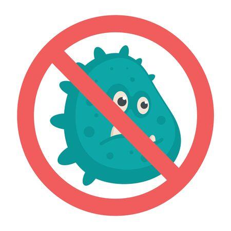 Stop coronavirus vector concept. Illustration with coronavirus isolated on white background