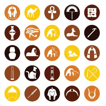 Egypt symbols simple icons set.