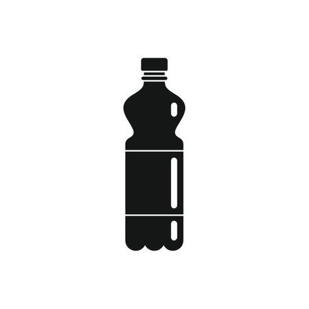 Plastic bottle for water black simple icon Vettoriali