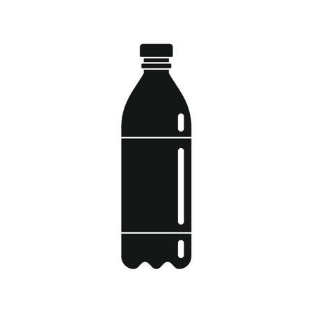 Plastic bottle for water black simple icon Иллюстрация