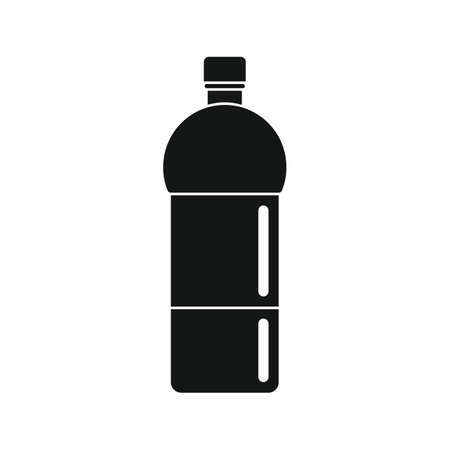Plastic bottle for water black simple icon 向量圖像