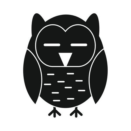 Owl black simple icon Vettoriali