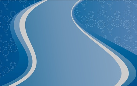 wallpaper rings: Abstract modern blue background with white circle. Effect of road.