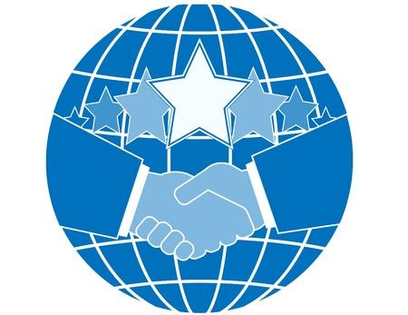 earth moving: El Tratado de businessmens con �xito y su apret�n de manos.