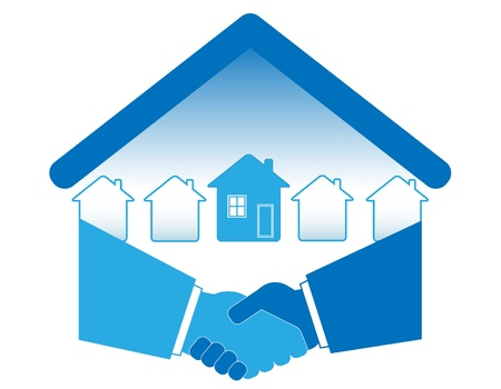 terms: Warm handshake and successful real estate transactions.