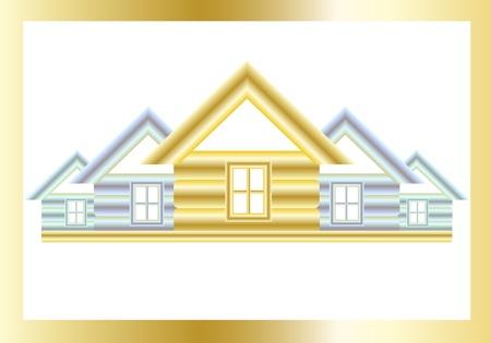 preferencia: Casas de oro y plata sobre fondo blanco. Vectores